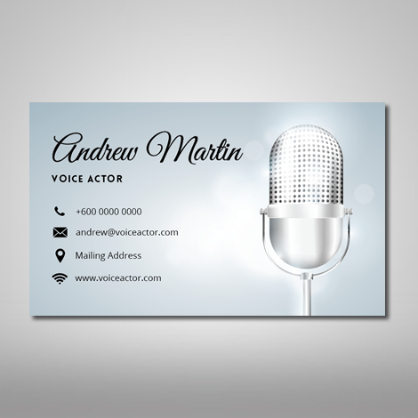 Voice over name card voice over business card voiceover name card nc048 colourmoves