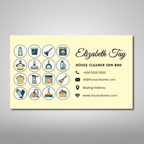 house cleaning template
